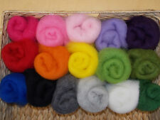 KAUNI Quality ROVING WOOL, natural carded wool for wet, needle felting,10g