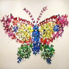 12pcs 3D Schmetterling Sticker Art Design Aufkleber Wandsticker Wanddeko neu