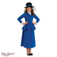 GIRLS VICTORIAN GIRL EDWARDIAN NANNY FANCY DRESS COSTUME