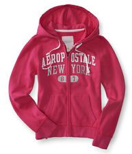 aeropostale womens aero sparkle new york full-zip hoodie
