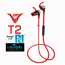 DinoTwin T2 Premium Sport Ear Bluetooth Earbuds, Sweat Resistant, Inline Remote