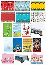 PLASTIC TABLECOVER - LICENSED CHARACTER DESIGNS RANGE (Birthday Party){Set1}