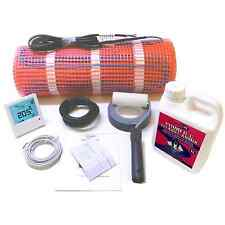 Electric Underfloor Heating Mat 200W/M² + Thermostat + Primer Kit - Full Size