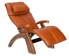 PREMIUM LEATHER PC-410 Walnut Human Touch Zero Gravity Perfect Chair Recliner