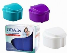 ORAFIX PREMIUM DENTURE BATH You Pick Color: WHITE:BLUE:GREEN:PURPLE