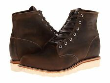 """CHIPPEWA BOOTS - more sizes - 6"""" Plain Toe Wedge Leather Boot - $239 msrp - NIB"""