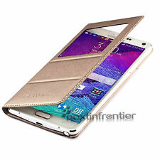 Flip S-VIEW Smart PU Leather Case Cover Skin For SAMSUNG GALAXY NOTE 4