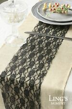 """6""""/12"""" Wide 24y Lace On a Roll Fabric Wedding Party Table Runner Chair Sash Ties"""