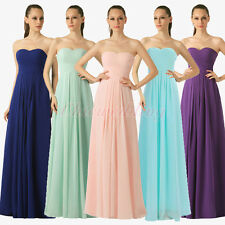Bridesmaids Dress Long Chiffon Evening Wedding Party Prom Formal Gown Size 2-18W