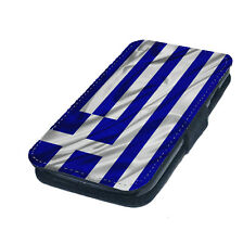 Greek Greece Flag - Printed Faux Leather Flip Phone Cover Case