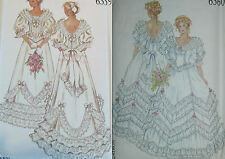 NEW LOOK 6359 or 6360 Size 8-18 Edwardian Victorian Bridal Gown Sewing Pattern
