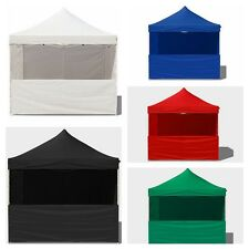 Deluxe EZ Canopy Pop Up Tent 10X10 Gazebo W/ 6 Walls &Carry Bag & Weight bag