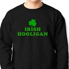 IRISH HOOLIGAN Funny Ireland T-shirt Beer St Patricks Day Crew Neck Sweatshirt