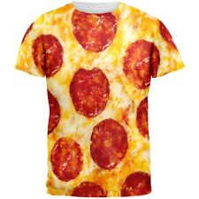 Pepperoni Pizza Sublimated Adult T-Shirt