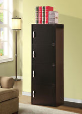 NEW MODERN STORAGE CABINET WITH 4 DOORS & 4 SHELVES