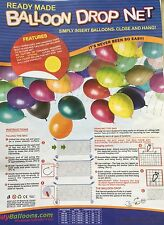 Latex Balloon Drop Net / Kit, Wedding, Birthday, Party, Event, All Occasions