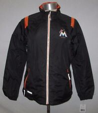 Miami Marlins Women Full Zip Lightweight Jacket with Screen Printed Logo