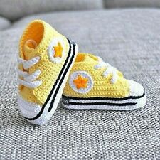 Baby Crocheted Handmade  Booties Size 0  fits 0 to 3 Months.