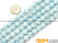 Natural 10mm Round Aquamarine Gemstone Jewelry Making Beads Spacer Strand 15""