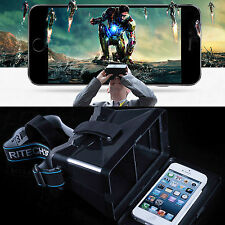 3D Virtual Vr Reality Video Glasses Google Cardboard For Smart Phone LG G3 TRC I