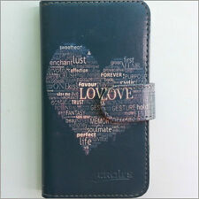 Brand new Purple Love heart wallet Flip case cover for Samsung/iphone/Nokia/HTC