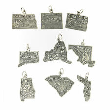 925 Sterling Silver State Charms United States All 50 States USA