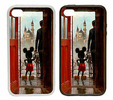 Mickey in Doorway Castle Rubber and Plastic Phone Cover Case
