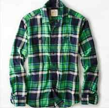 MENS AE AMERICAN EAGLE OUTFITTERS M, L, XL GREEN & BLUE HERITAGE FLANNEL SHIRT