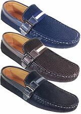 Men Brixton New Leather Driving Casual Shoes Moccasins Slip On Loafers Pittman