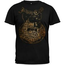 Johnny Cash - Songs On Guitar Soft Adult Mens T-Shirt