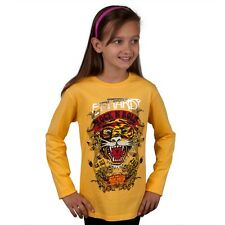 Ed Hardy - Rock N Roll Tiger Girls Youth Long Sleeve