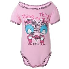 Dr. Seuss - Baby Girls Thing One And Thing Two Newborn Infant One Piece