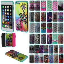 "For Apple iPhone 6/iPhone 6S 4.7"" Combo 4 in 1 Hybrid Silicone Rubber Case Cover"