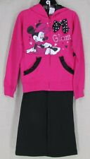 MINNIE MOUSE Youth Girl's Full Zipper Front Jacket Hoodie Pants SET Pink 6 NEW