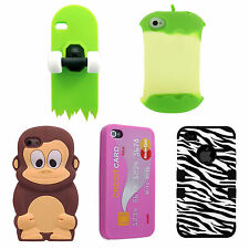 Hard Case Cover for iPhone 4 4S 3D Cartoon Stylish Silicone Protective Skin