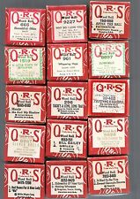 ASSORTMENT  QRS  PLAYER PIANO'S MUSIC ROLLS SOLD INDIVIDUALLY