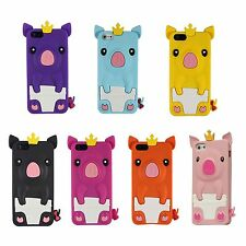 New 3D Pig Cartoon Animal Silicone Soft Case Skin Cover  for Apple iPhone 5 5S