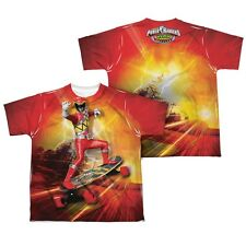 Power Ranger Dino Charge Skater All Over Sublimation Poly Youth Kids Shirt S-XL