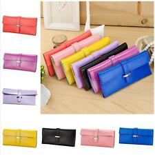 Ladies Purse Soft PU Leather Wallet Card Holder Elegant Clutch Bag Pure Colour