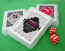 24 Personalized Custom Vegas Wedding Birthday Playing Cards Bridal Party Favors