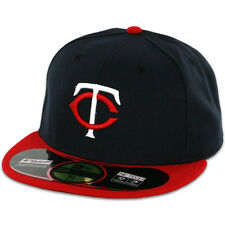 Minnesota TWINS ROAD Away DarkNavyRed New Era 59FIFTY Fitted Cap MLB OnField Hat