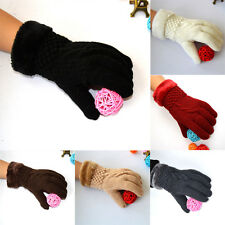 Women's Ladies Thick Knit Gloves Mittens Weave Comfort  Fur Warm Winter Lining