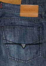 Guess Relaxed Classic Straight Leg Men's Blue Black Jeans  Sz 30 33 34 36 40