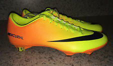 NEW Mens 7 NIKE Mercurial Vapor IX FG Yellow Orange Soccer Cleats Futball Boots