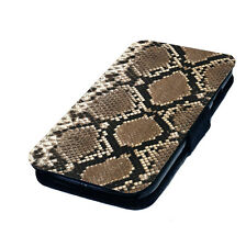 Snake Skin - Printed Faux Leather Flip Phone Cover Case