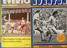 Everton 1976/77 1977/78 1978/79 HOME programmes choose from list FREE UK P&P