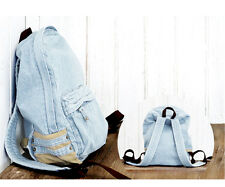 Unique Denim Satchel Backpack Rucksack Shoulder Voguish Travel  Bag Elegant New
