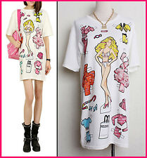 2015 Women's Love Clothes Pattern Shirt Mini Moschino Cotton Comfortable Dress
