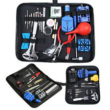 13/27x Watch Repair Tool Kit Zip Case Spring Bar Opener Link Remover Screwdriver
