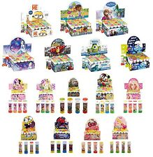 Pack of 6 BUBBLES (Choose Character) Boys/Girls/Kids Party Bag Filler/Loot Toys